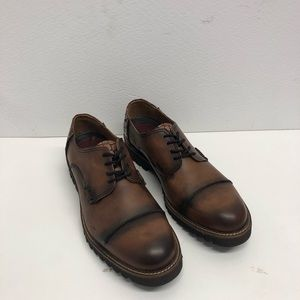 Sabatter shoes leather Brown captoe casual
